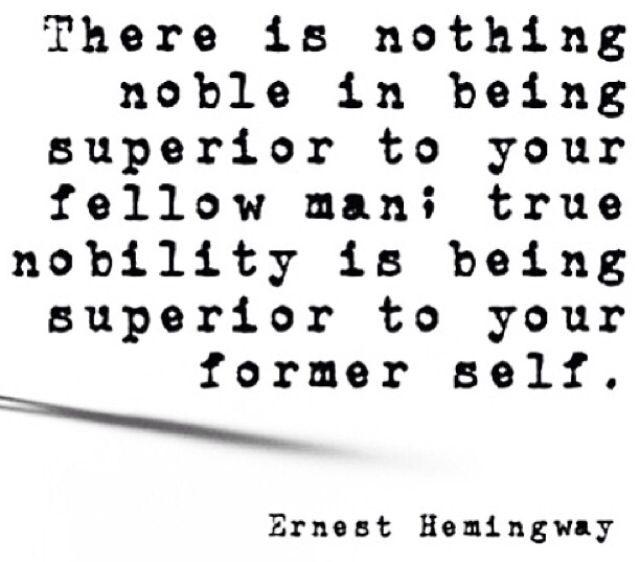 Earnest Hemingway quote