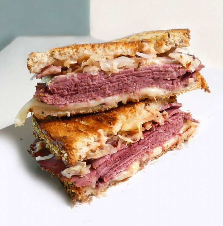 The classic Reuben with kraut. | Recipes - Sandwiches | Pinterest