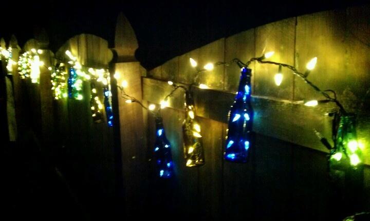 Beer bottle lights Decorate Pinterest
