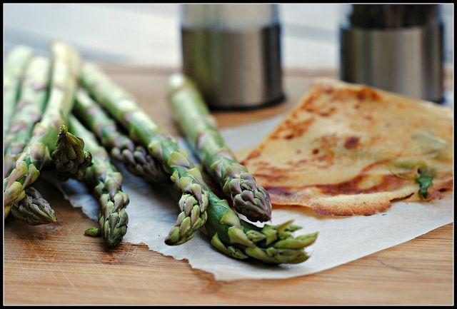 Mozzarella and Asparagus Crepe | Menu planning | Pinterest