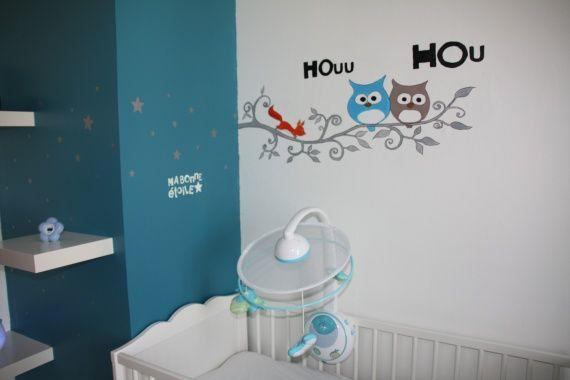 Chambre bebe hibou avec des id es for Decoration chambre hibou