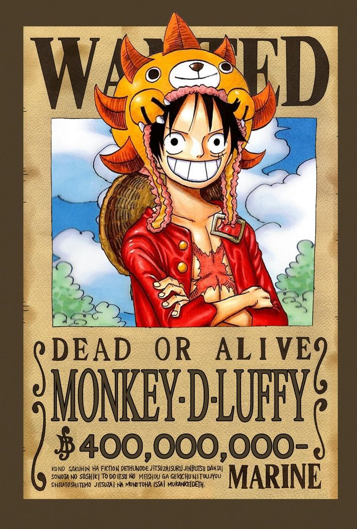 one piece wanted poster luffy. Black Bedroom Furniture Sets. Home Design Ideas