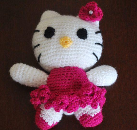 Crochet Pattern Minnie Mouse Doll : Crochet Hello Kitty Doll - Amigurumi Hello Kitty Doll