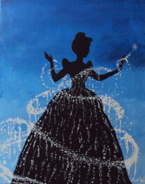 Free Printable Cinderella Silhouette Cinderella silhouettePrintable Cinderella Silhouette