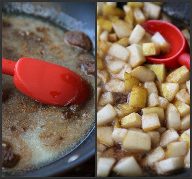 Caramel & Sea Salt Pear Pancake Recipe by CookinCanuck, via Flickr