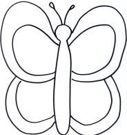 simple butterfly coloring page butterflies storytime pinterest