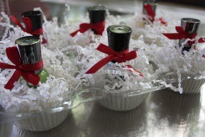 "Nailpolish favors...how cute is that!  Guests grab a little nailpolish ""cupcake""!"