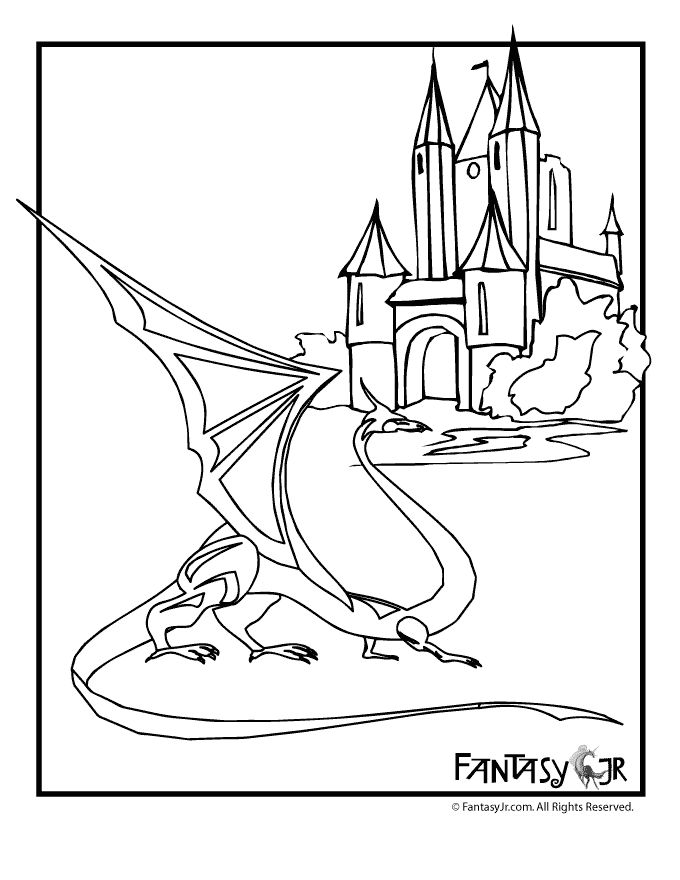 Medieval Dragon Coloring Pages For Kids D Pinterest Midevil Dragons Coloring Pages