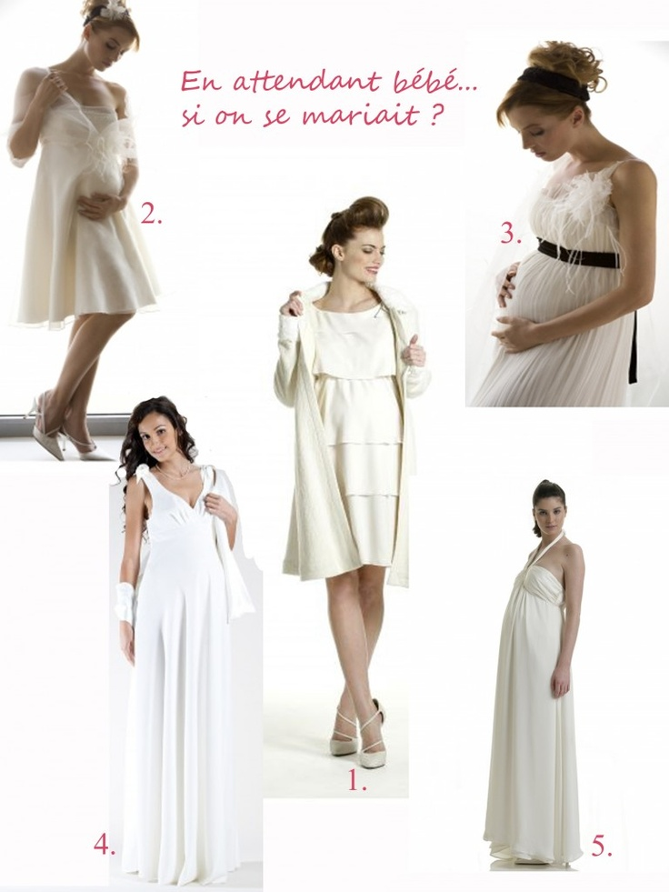 robe de mariée femme enceinte  mariage  Pinterest