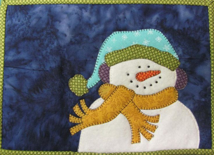 Love the Snowman's smile. Quilt Doodle's Pattern Store on Craftsy | Support Inspiration. Buy Indie.