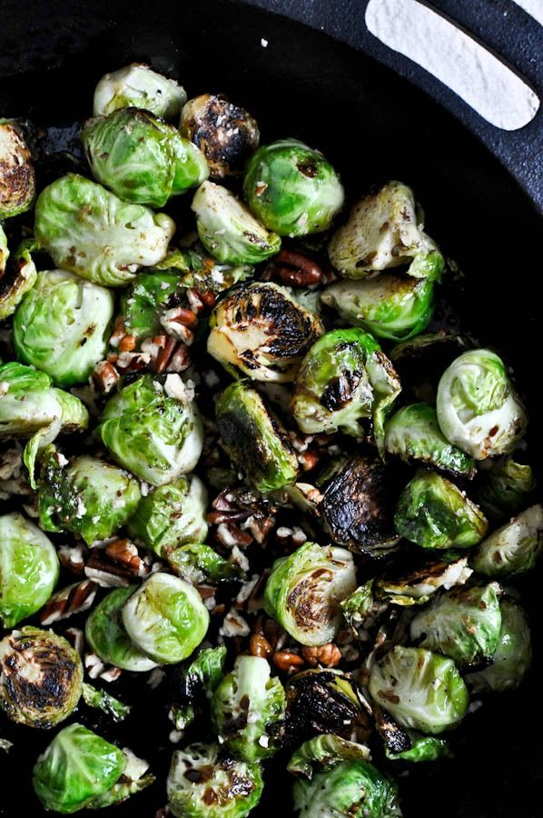 Pan Roasted Brussels Sprouts with Brown Butter and Toasted Pecans | R ...