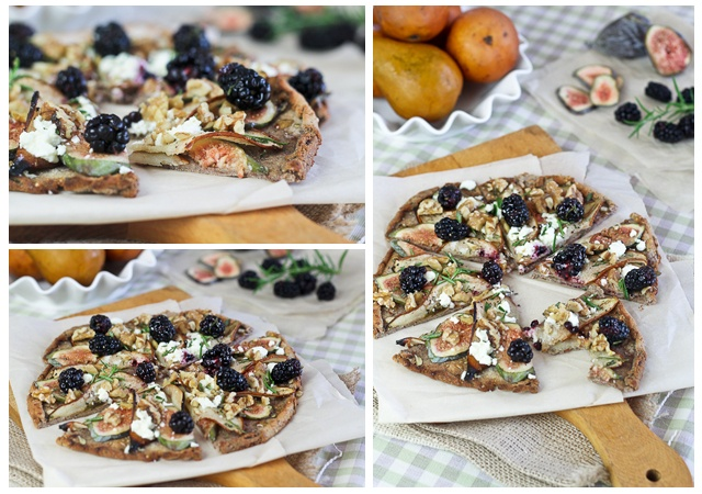 Grain Free Bosc Pear, Fresh Figs and Goat Cheese Pizza | Recipe