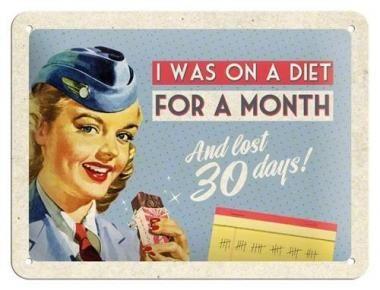 Retro Sign 'Diet'