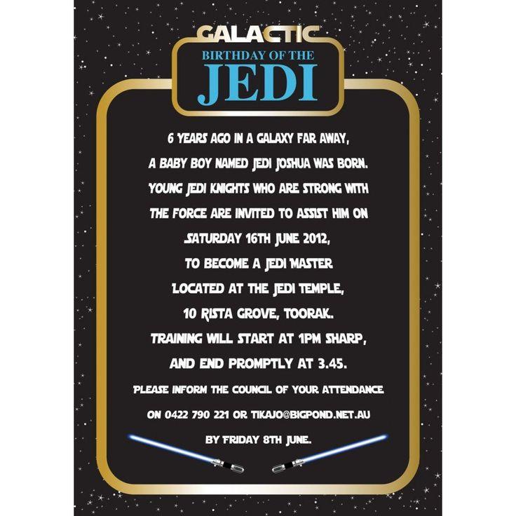 Star Wars Birthday Invitation | Party ideas | Pinterest