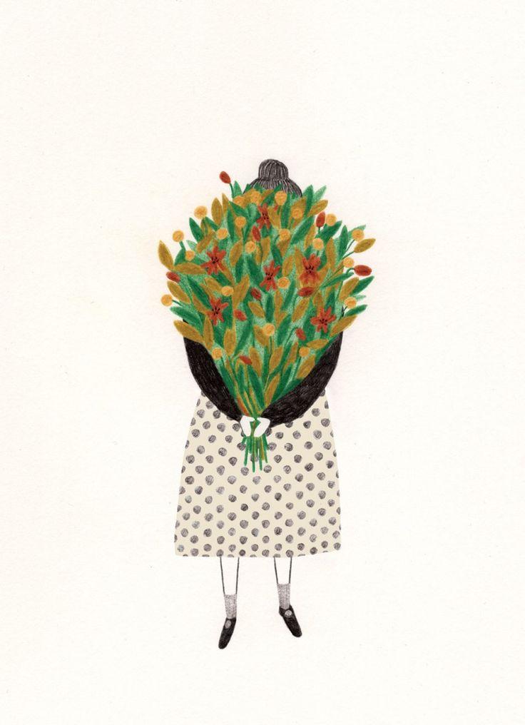 Postcard  Flowers Liekeland