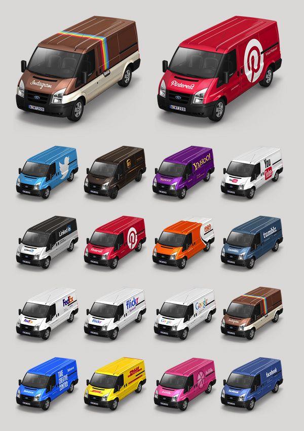 Pinterest truck. Container Icon Set V4 by Mehmet Gozetlik, via Behance