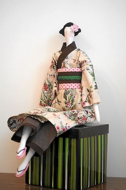 Tilda Japanese - free pattern | Doll clothes | Pinterest