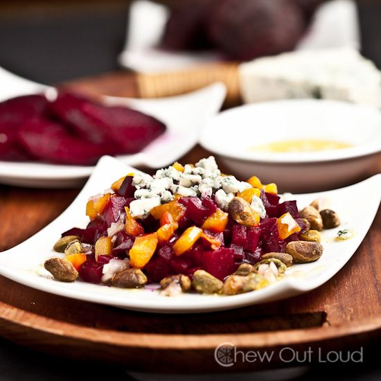 Beet and Blue Cheese Salad with Pistachio - Who knew beets are this ...