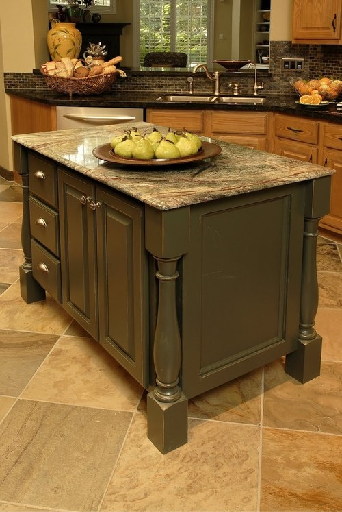 An oddly shaped kitchen island for Odd shaped kitchens
