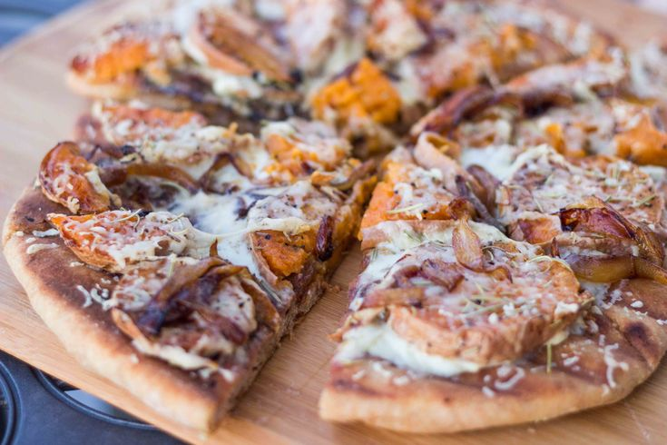 Potato & Rosemary & Balsamic Caramelized Onion Pizza with Goat Cheese...