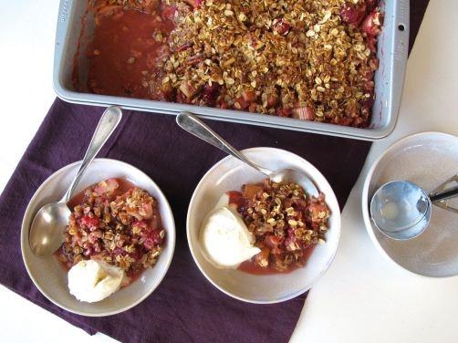 Berry Rhubarb Crisp (Gluten-Free). Simply strawberries, raspberries ...