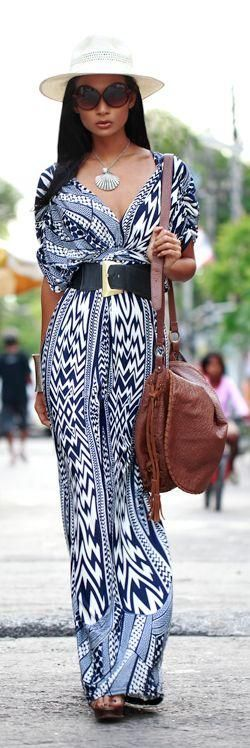 Beautiful Maxi Dress… easy to sew! The pattern is somewhere on this board or the DIY board.
