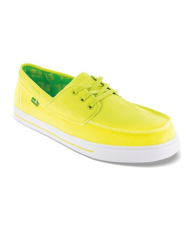 Take a look at this Fluorescent Yellow Beacon Boat Shoe - Men by Sanuk