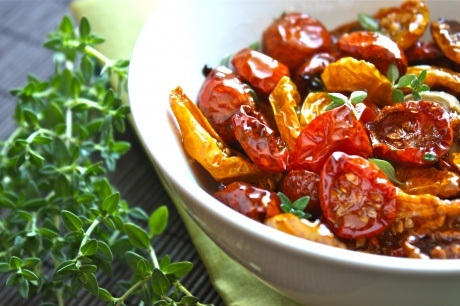 slow roasted tomatoes - these are like candy.