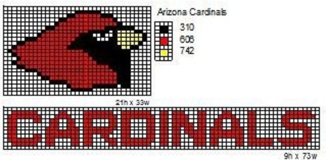Crochet Patterns Nfl Logos : Arizona Cardinals by cdbvulpix.deviantart.com on @deviantART