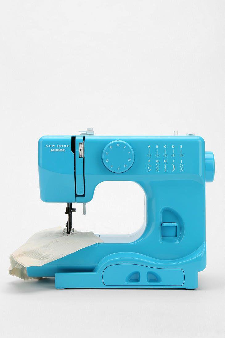 blue sewing machine