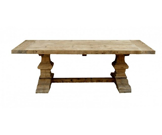 Rustic trestle table kitchen pinterest for Rustic trestle dining table