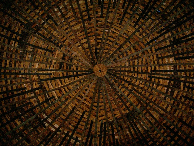 Inside view of round barn roof barns pinterest