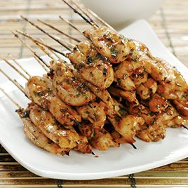 Chipotle Chicken Skewers with Creamy Cilantro Dipping Sauce