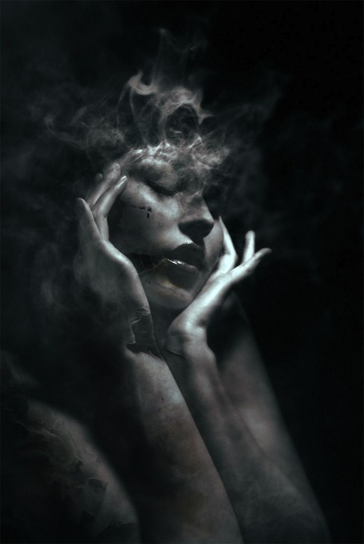 Dramatically Mysterious Smoky Portraits by Federico Bebber