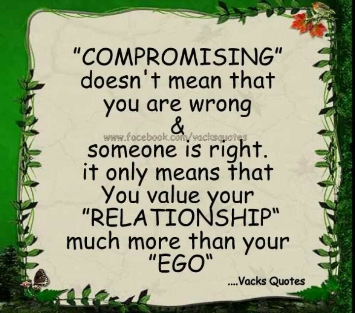 Compromise in dating