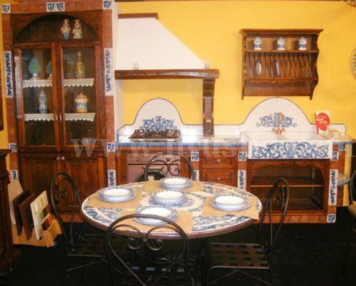 cucina rustica turchese ilrustico com cucine in muratura caltagirone