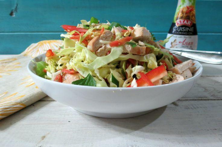 Spicy Thai Chicken Salad - A healthy, light, refreshing Asian salad ...