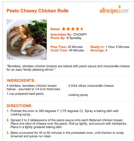 Pesto Cheesy Chicken Rolls | EAT MOR CHIKN | Pinterest