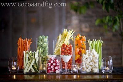 great way to do a veggie buffet