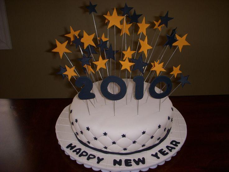 happy new year fondant cakes