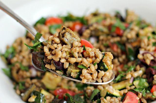 Mediterranean Eggplant and Barley Salad | Healthy Recipes | Pinterest
