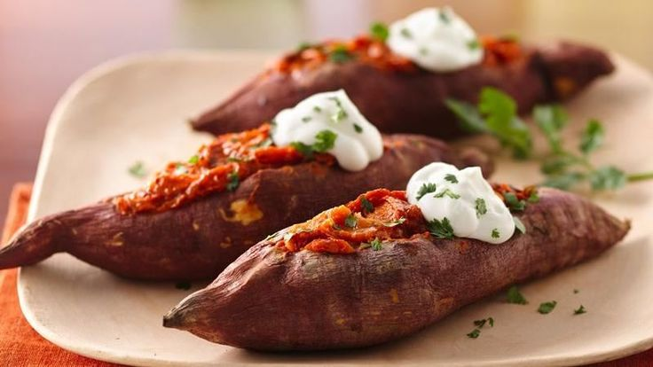 Chipotle chile enhances the flavor of these twice baked sweet potatoes ...