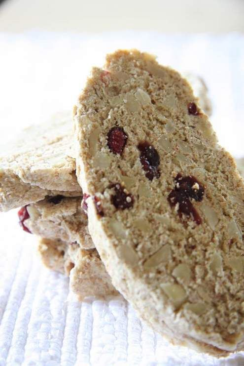 Cranberry Almond Whole Wheat Biscotti | A Little Sweet | Pinterest
