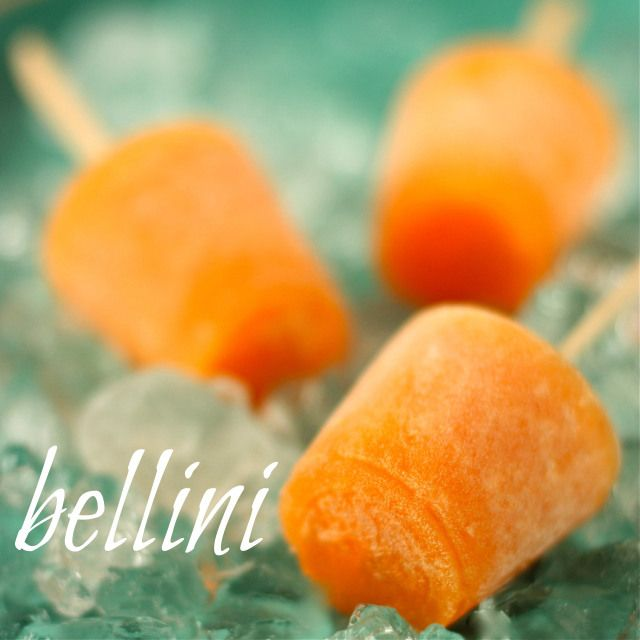 Bellini Ice Pops by Daisy's World | Simply Sweet | Pinterest