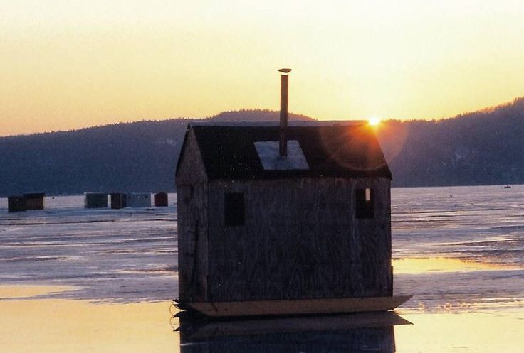 Ice Fishing In Vermont On Lake Champlain Let It Snow