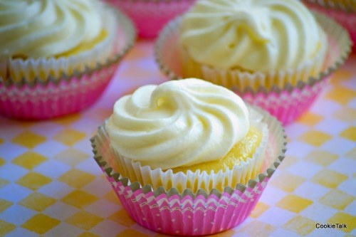 Lemon Cupcakes made with Meyer Lemons and Limoncello