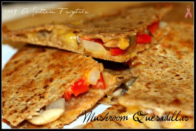 Mushroom Quesadillas | A Southern Fairytale; use whole wheat tortillas ...