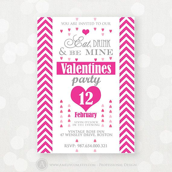 valentine party flyer template download