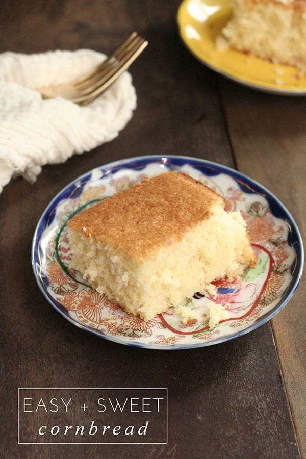 Easy & Sweet Cornbread | Frock Files | Confections | Pinterest
