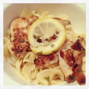 : Stepping outside my comfort. - Chicken Francese – Lightened Up ...